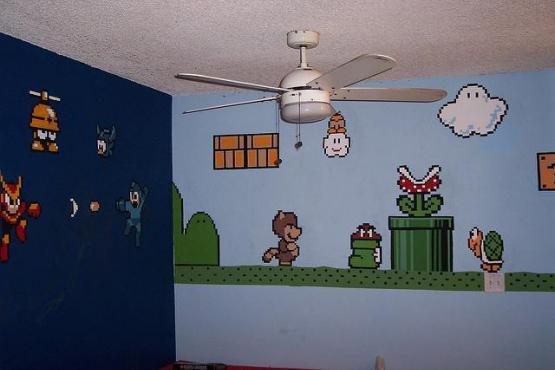 Mega Man and Mario Wall Mural